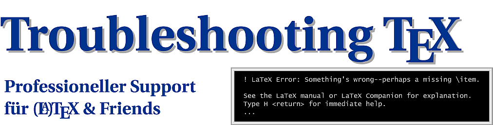 Troubleshooting TeX